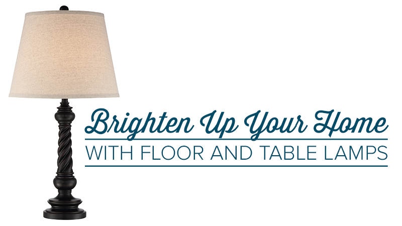 Brighten Up Your Home with Floor and Table Lamps