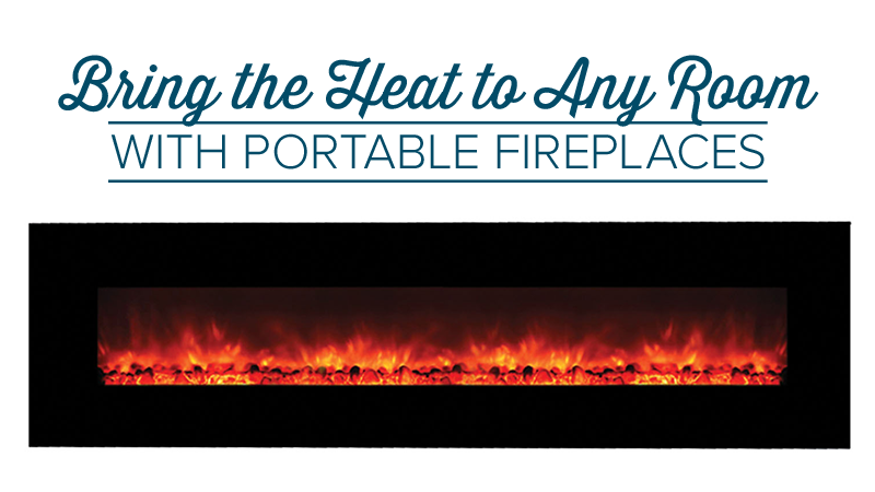 Portable Fireplaces Bring the Heat to Any Room