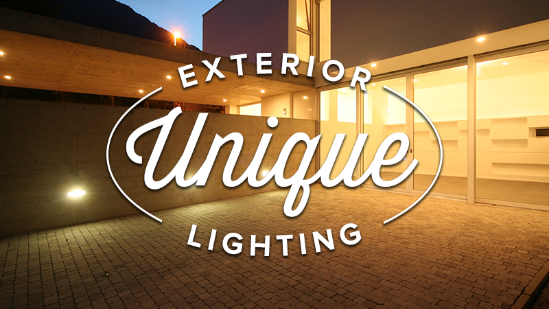 Unique Exterior Lighting on Sale!