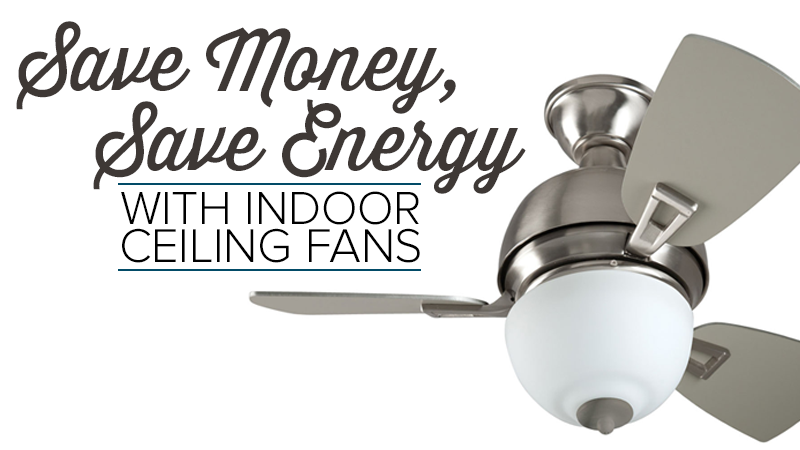 Save Money, Save Energy with Indoor Ceiling Fans