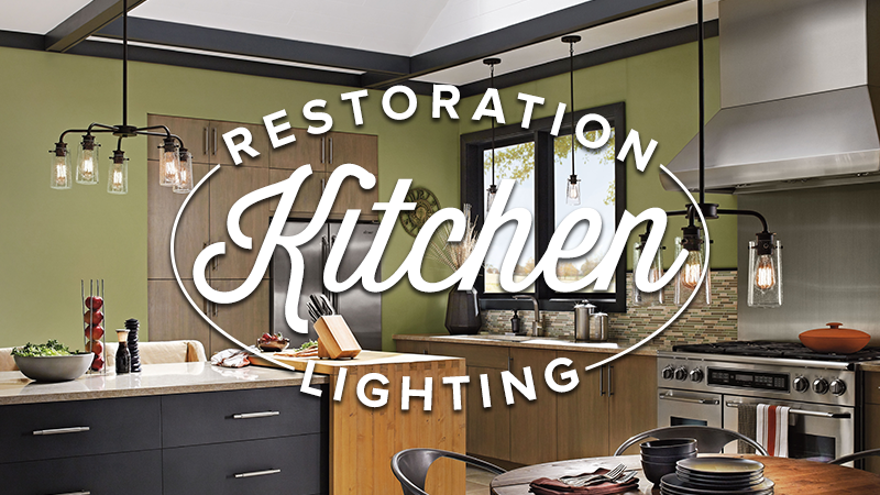 Restoration Style Lighting is Perfect For the Kitchen
